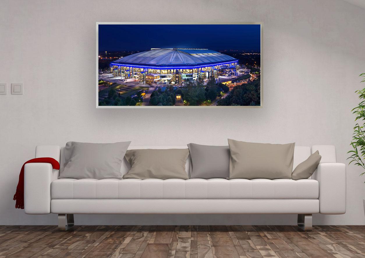 LED Bild Fussballstadion Arena Gelsenkirchen