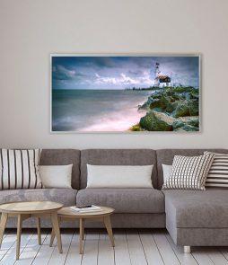 LED Bild Motiv Leuchtturm Holland