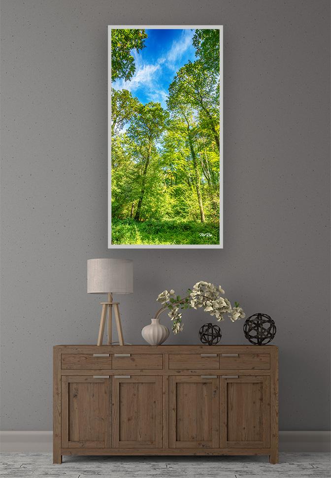 LED Bild Motiv Green Wood