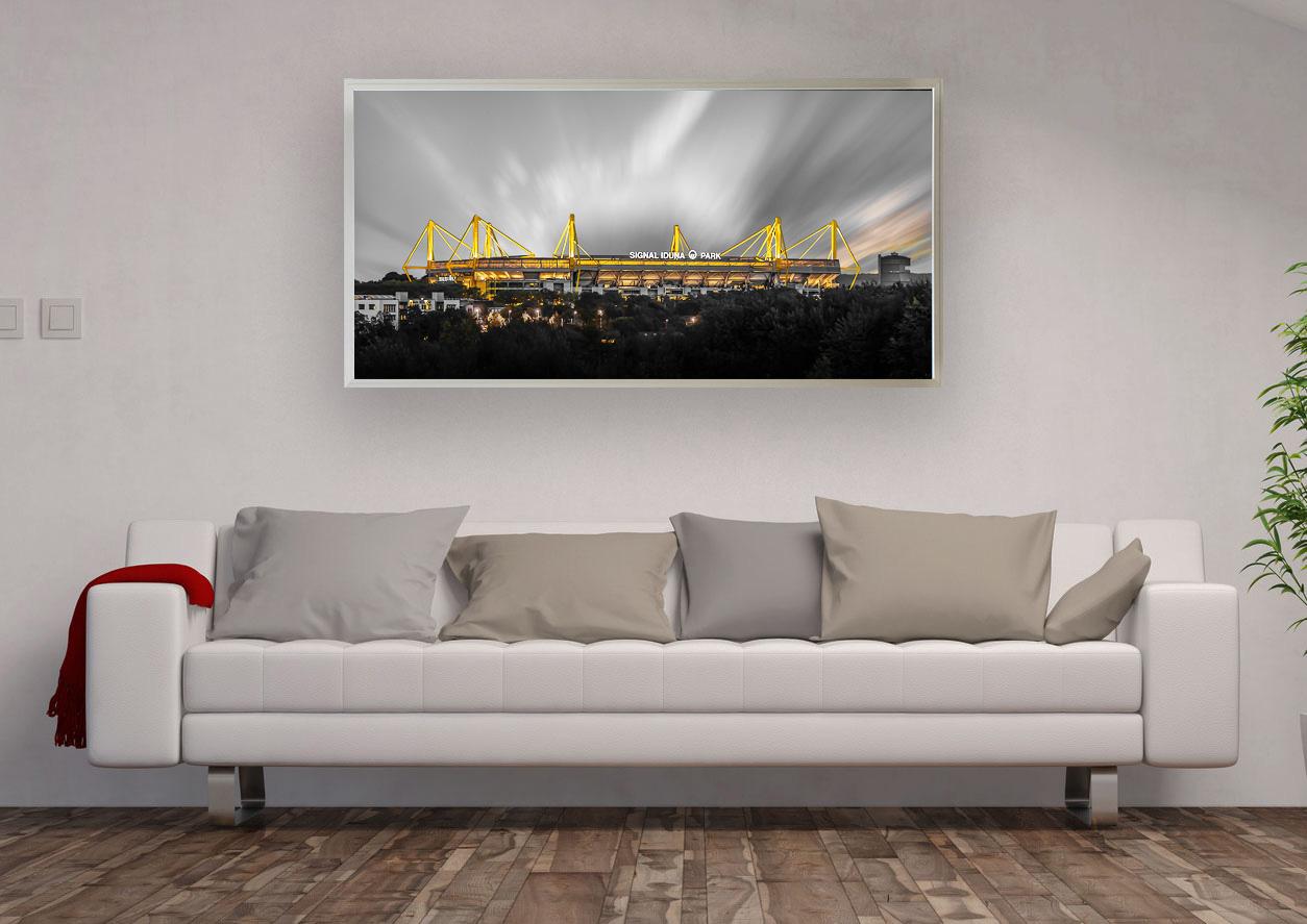 LED Bild Fussball Arena Dortmund