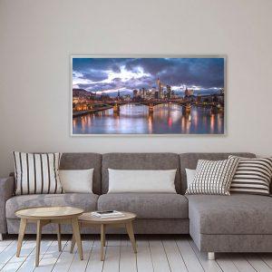 LED Bild Motiv Frankfurt Skyline