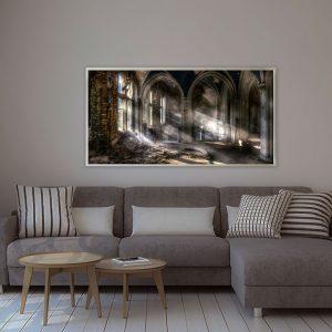 LED Bild Motiv Lost Place Church