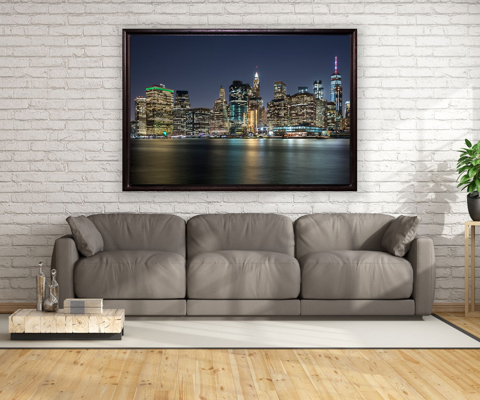 leinwand im holzrahmen new york exclusive bilder im deco art shop. Black Bedroom Furniture Sets. Home Design Ideas