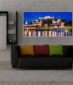 LED Bild Salzburg bei Nacht