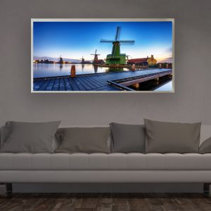 LED Bild Windmühle Holland