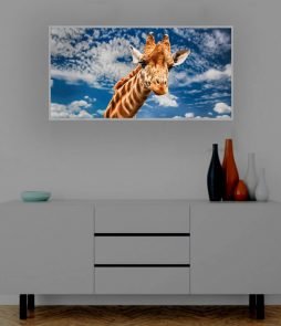 LED Bild Giraffe in Afrika