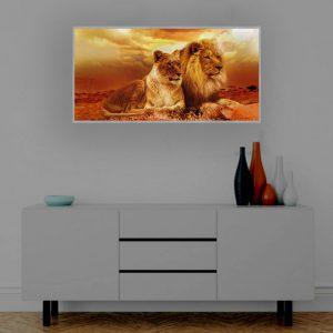 LED Bild Löwen in Afrika
