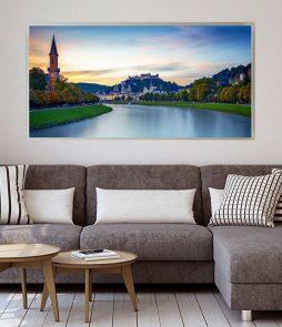 LED Bild Salzburg mit Salzach
