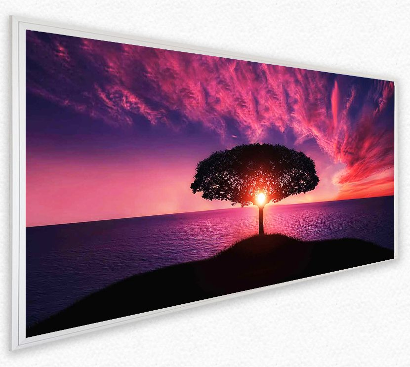 LED Bild Purple Sky Rahmen