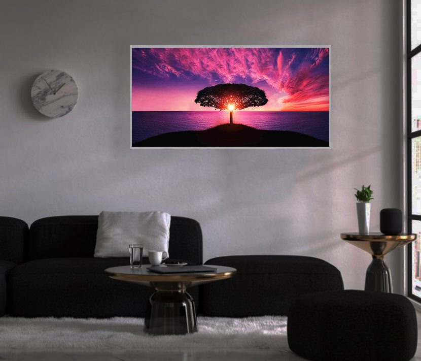 LED Bild Purple Sky
