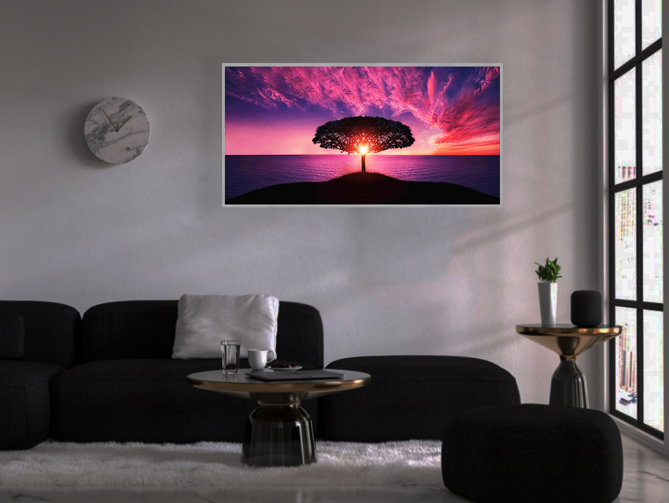 LED Bild Purple Sky