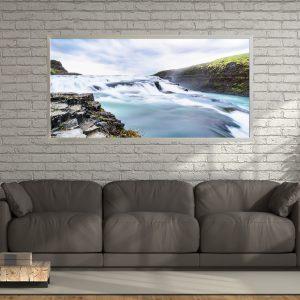 LED Bild Island Wasserfall