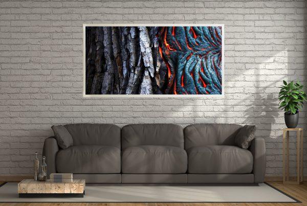 LED Bild Magma