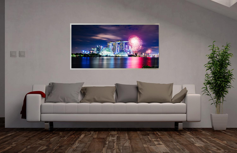 LED Bild Singapur Skyline
