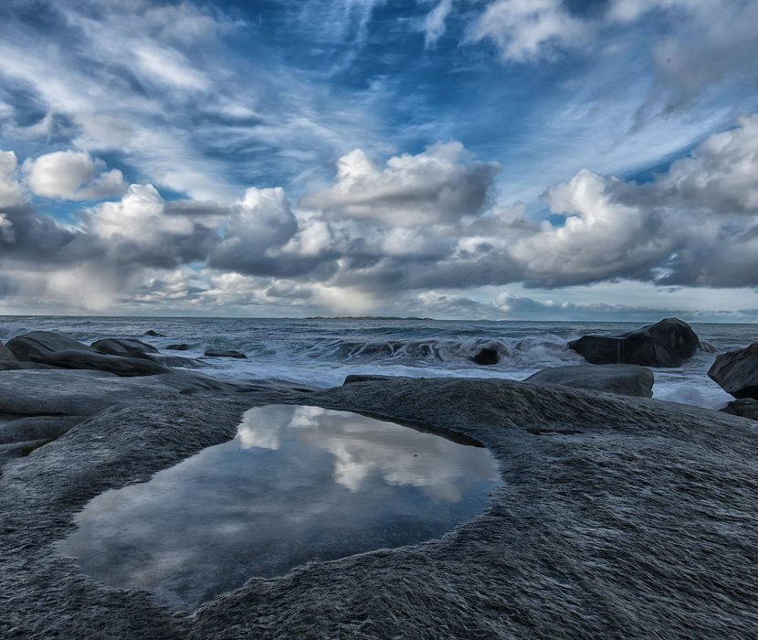 LED Bild Utakleiv Beach Norwegen