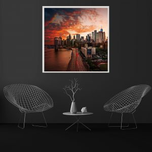 LED Bild NYC Sunset
