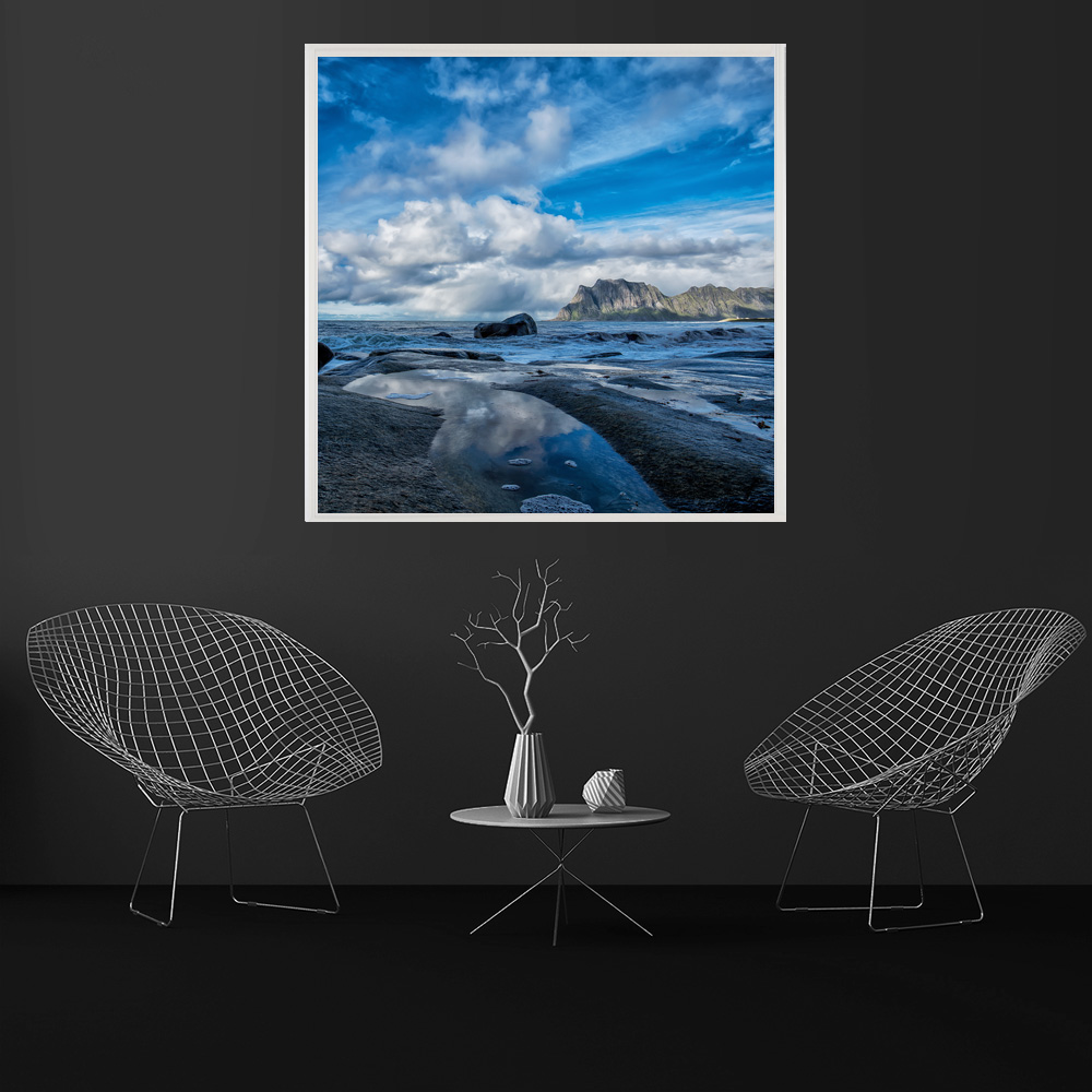LED Bild Lofoten Blue Sea