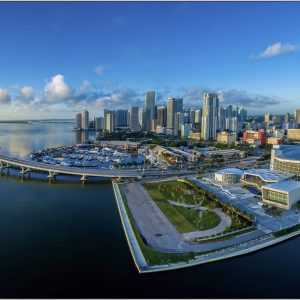 LED Bild Miami Panorama