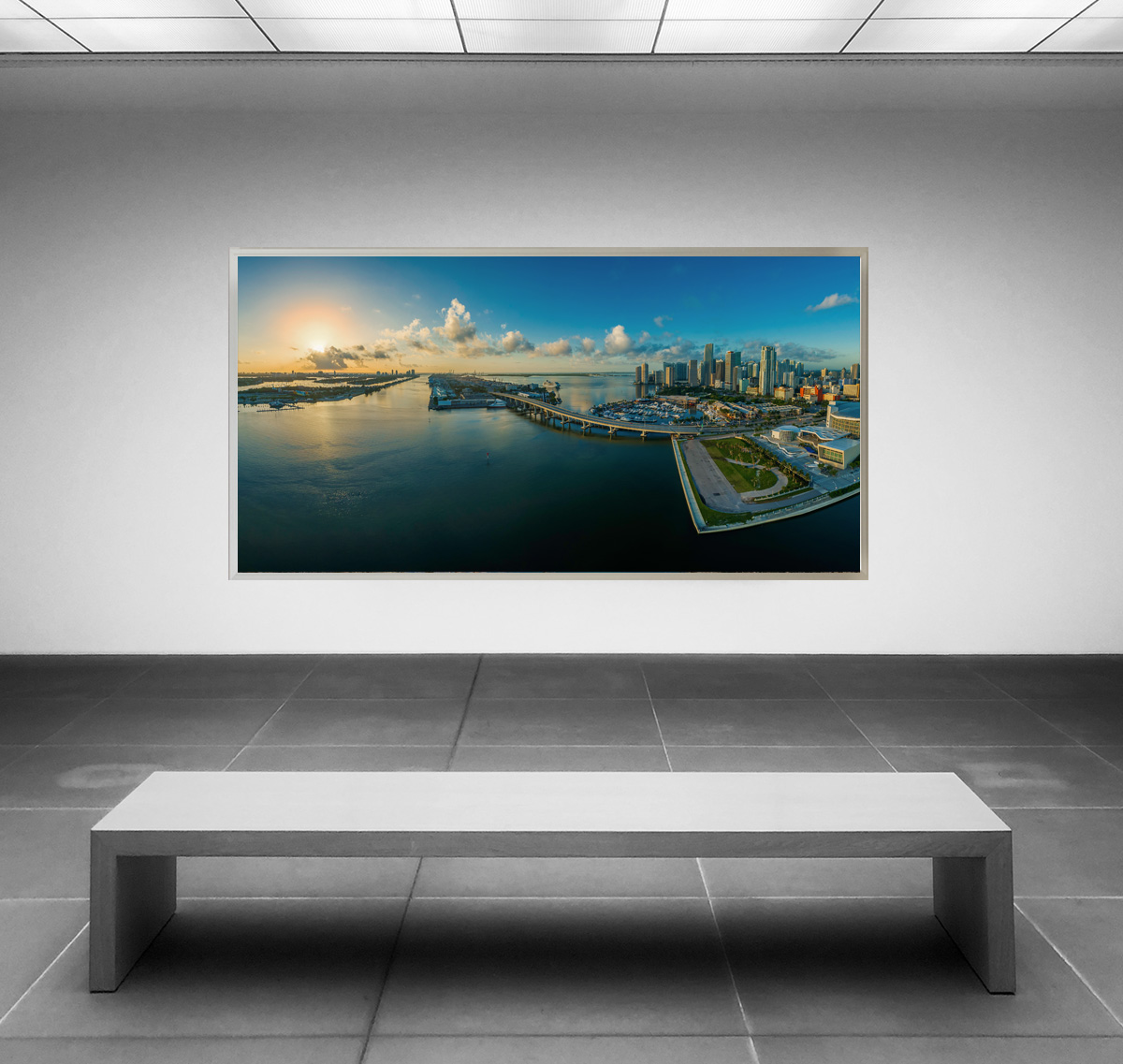 LED Bild Miami Panorama