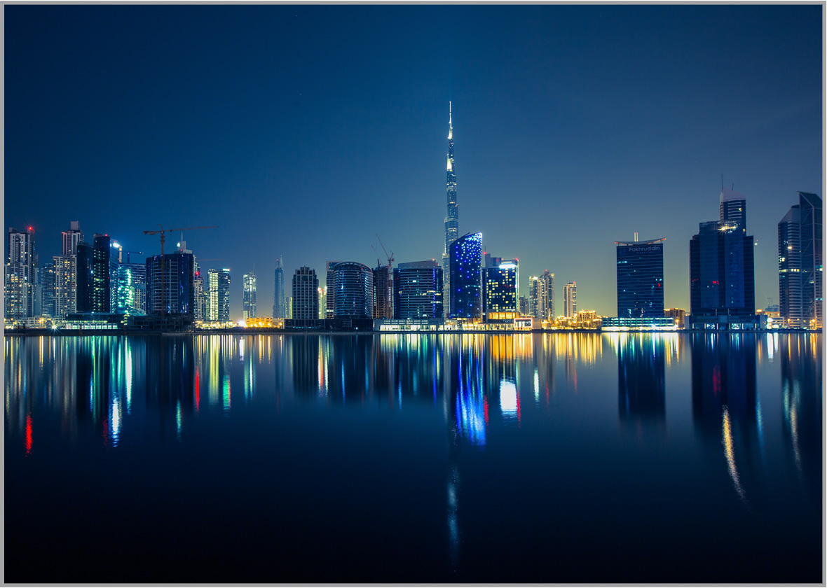 LED Bild Dubai City