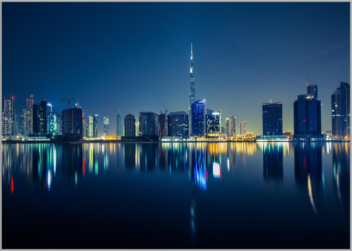 LED Bild Dubai City