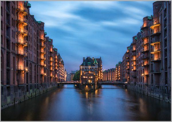 LED Bild Hamburg Speicherstadt