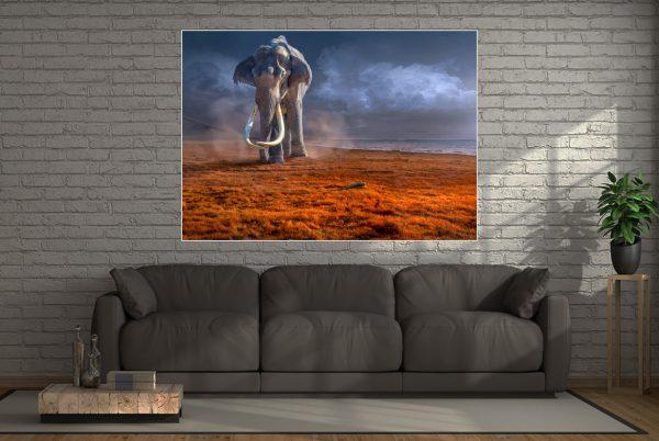 LED Bild Mammut Fantasy