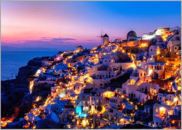 LED Bild Santorini