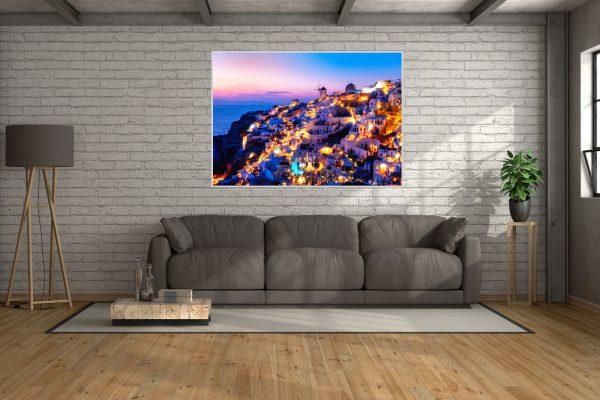 Leinwandbild Santorini