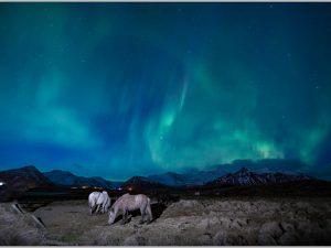 LED Bild Island Nordlichter