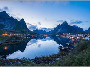 LED Bild Reine Norwegen