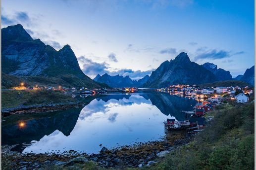 LED Bild Reine Norwegen