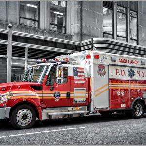 LED Bild Feuerwehr New York Ambulance