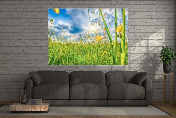 Blumenwiese LED Bild