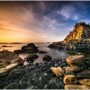 LED Bild Dawn Beach Vietnam