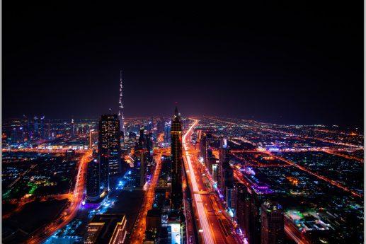 LED Bild Dubai Mainroad