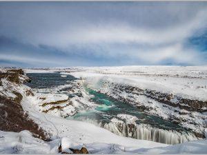 LED Bild Gulfoss Wasserfall