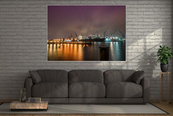 LED Bild Hafen