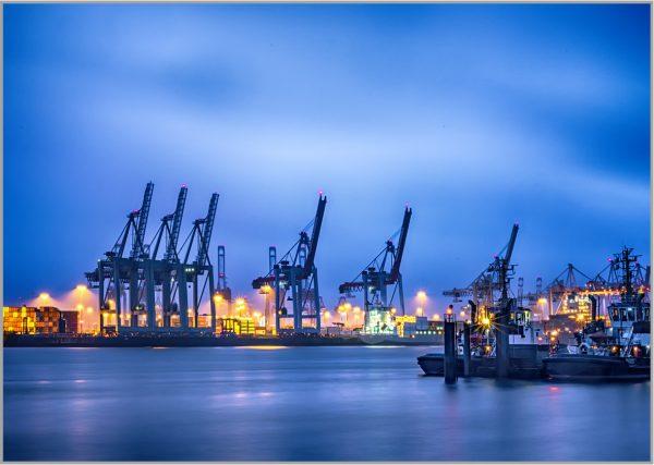 LED Bild Hamburg Hafen Waltershof