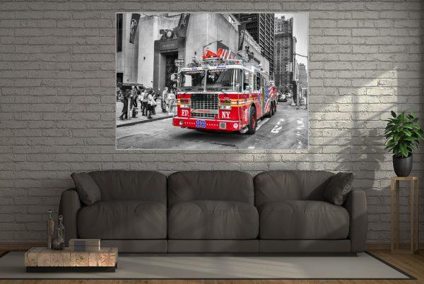 Leinwandbild Feuerwehr New York