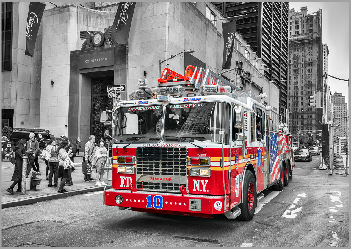 LED Bild Feuerwehr New York FD NYC