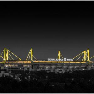 LED Bild Fussballstadion Arena Dortmund