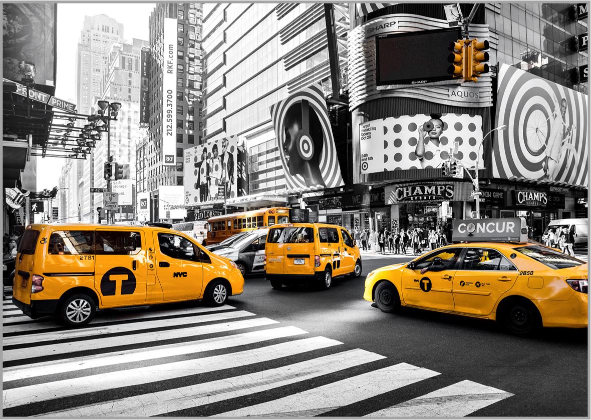 LED Bild NYC Yellow Cap