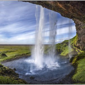 LED Bild Seljalandsfoss