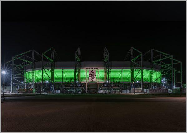 LED Bild Fussballstadion Arena Mönchengladbach