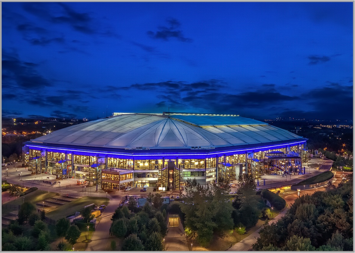 LED Bild Fussballstadion Gelsenkirchen