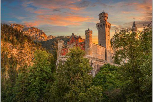 LED Bild Schloss Neuschwanstein