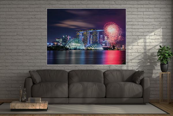 Wall Art Skyline Singapur