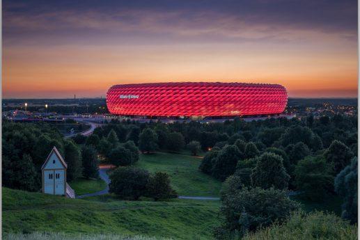 LED Bild Fussballstadion München