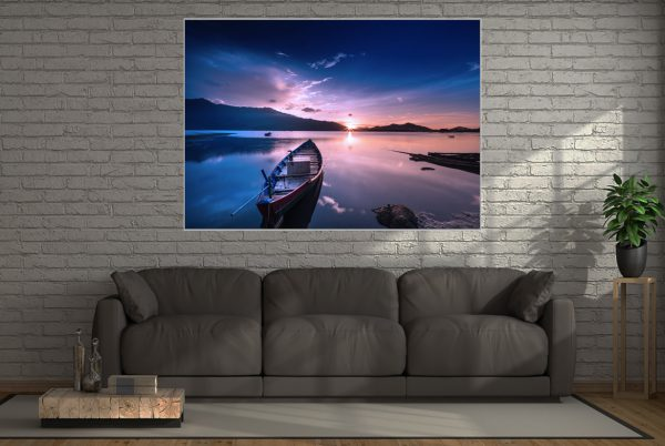Wall Art Blue Boat